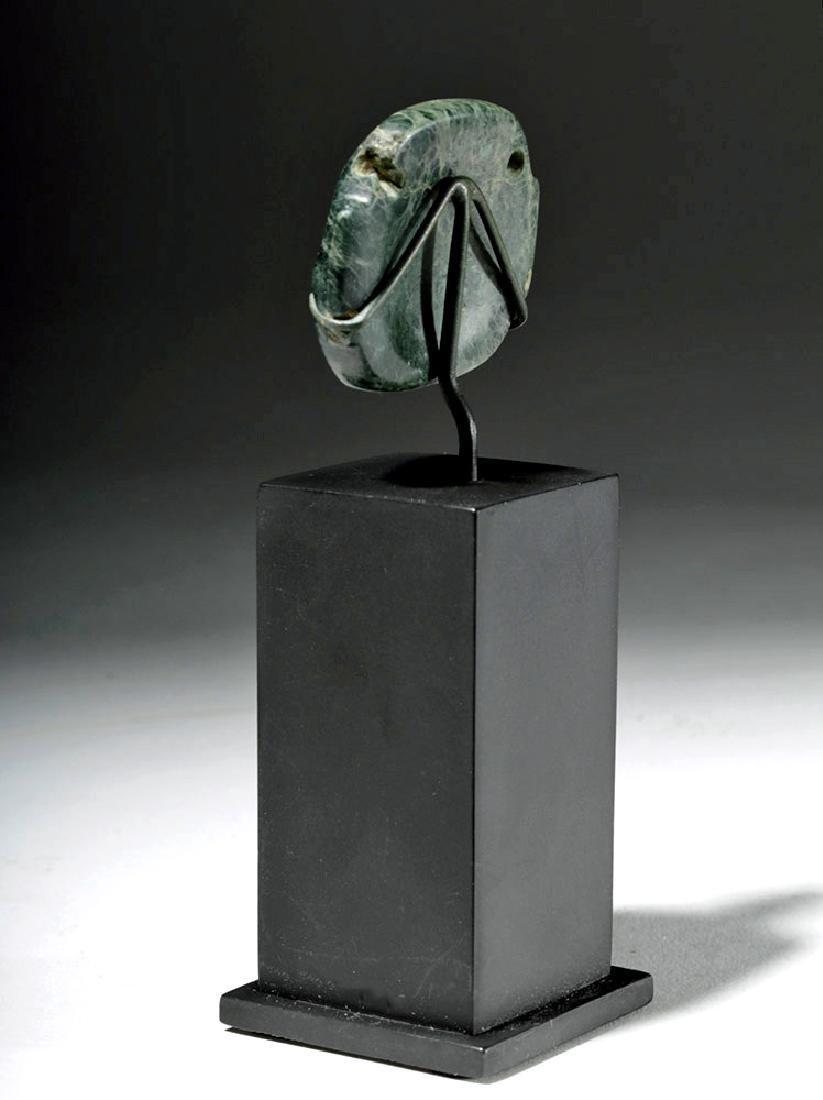 Fine Olmec Greenstone Maskette - 2