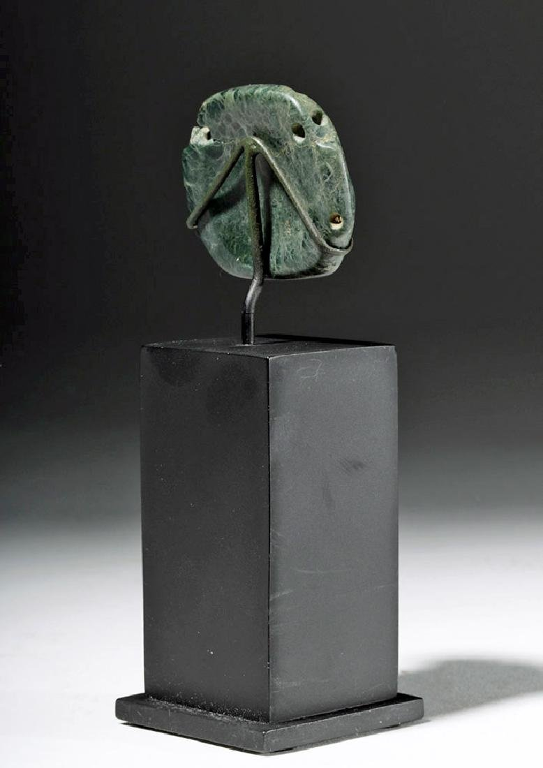 Fine Olmec Greenstone Maskette - 3