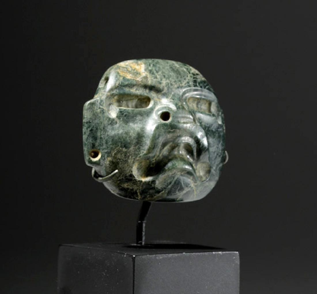 Fine Olmec Greenstone Maskette - 4