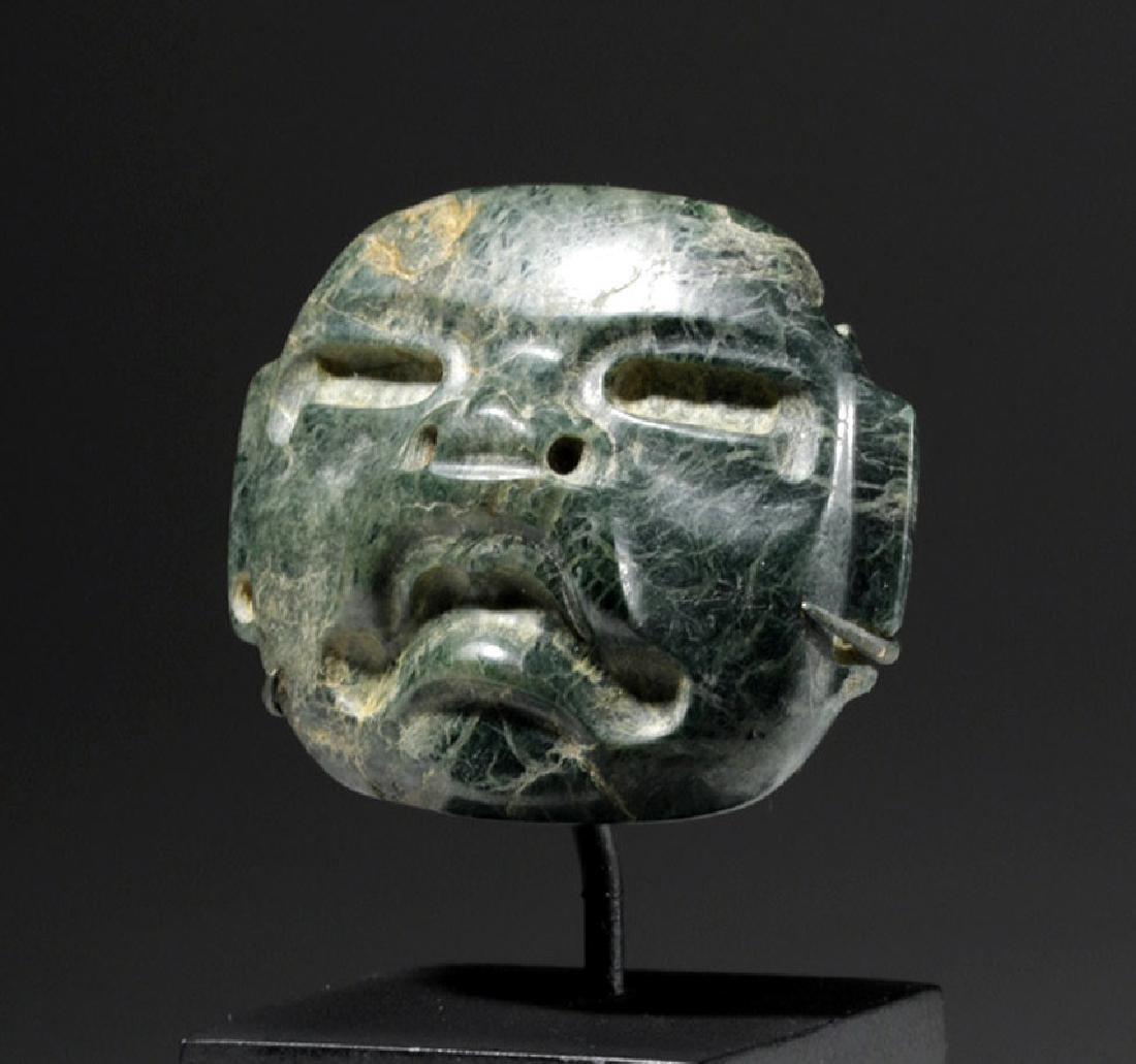 Fine Olmec Greenstone Maskette - 5