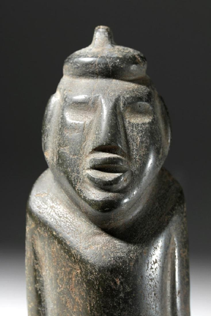 Large Guerrero Chontal Standing Stone Figure - 6