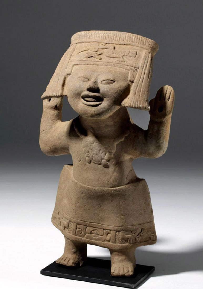 Fine / Large Veracruz Pottery Sonriente - Laughing Boy - 5
