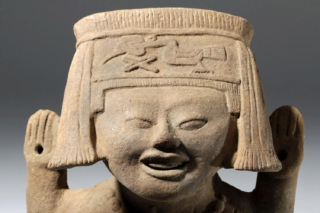 Fine / Large Veracruz Pottery Sonriente - Laughing Boy - 6