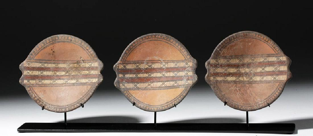 Trio of Near-Matching Inca Polychrome Plates