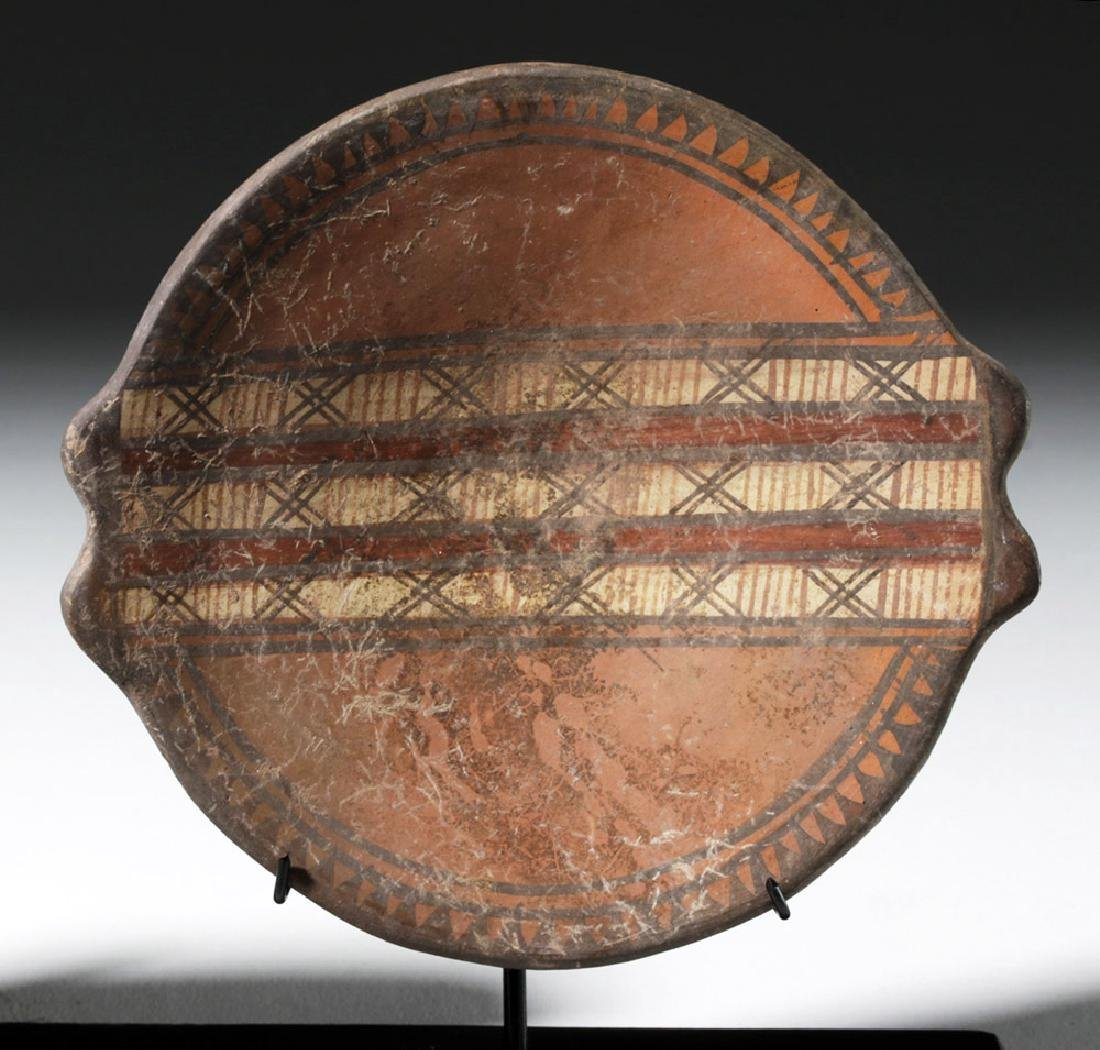 Trio of Near-Matching Inca Polychrome Plates - 5