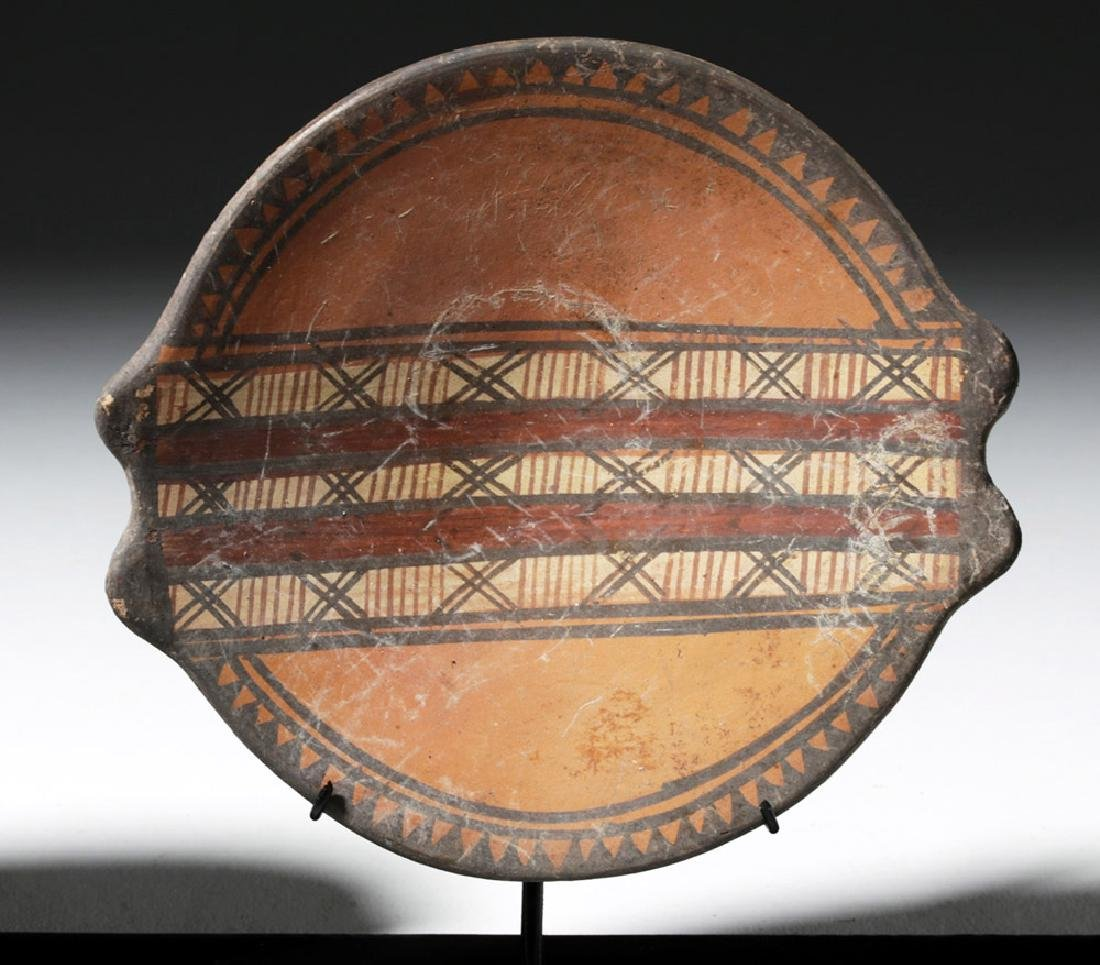 Trio of Near-Matching Inca Polychrome Plates - 7