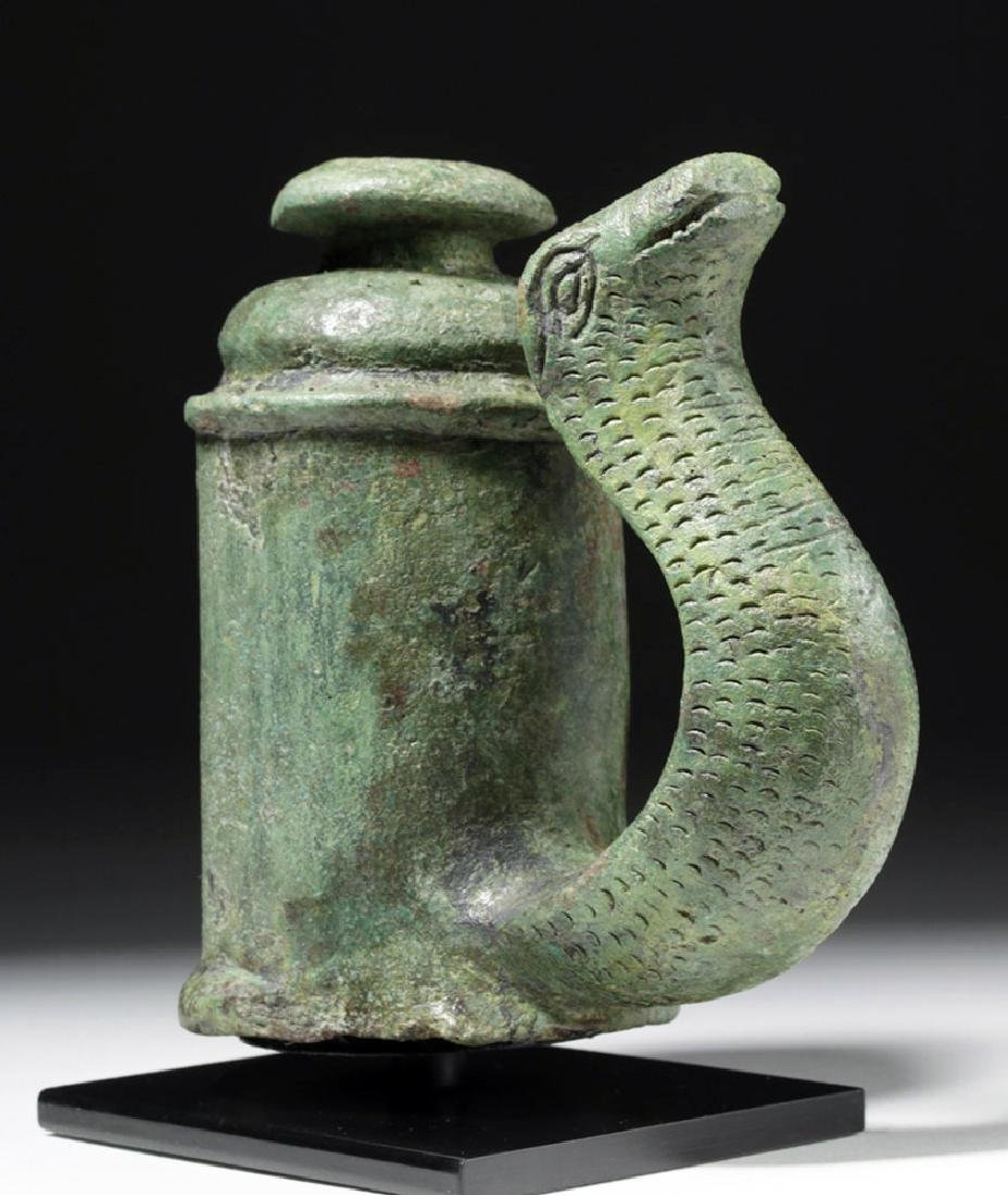 Fine Pair of Roman Bronze Chariot Fittings w/ Snakes - 7