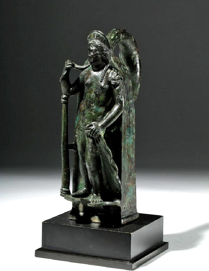 Important Large Roman Bronze Chariot Attachment -Venus