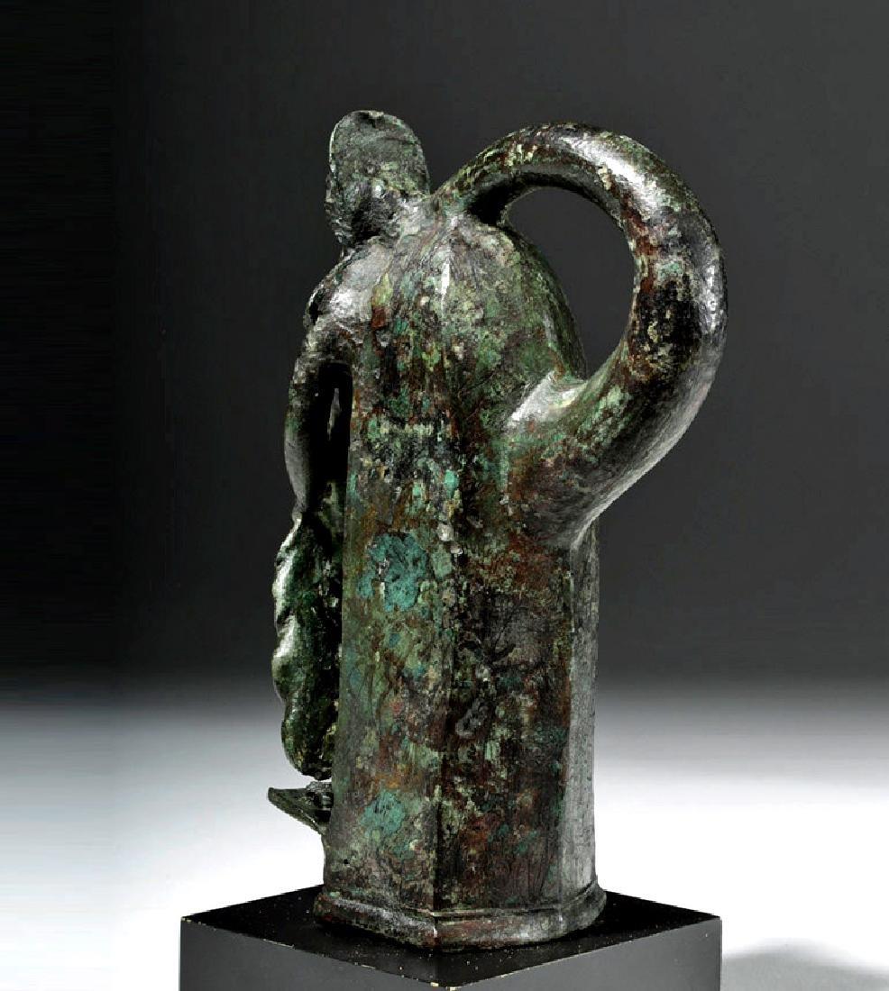 Important Large Roman Bronze Chariot Attachment -Venus - 2