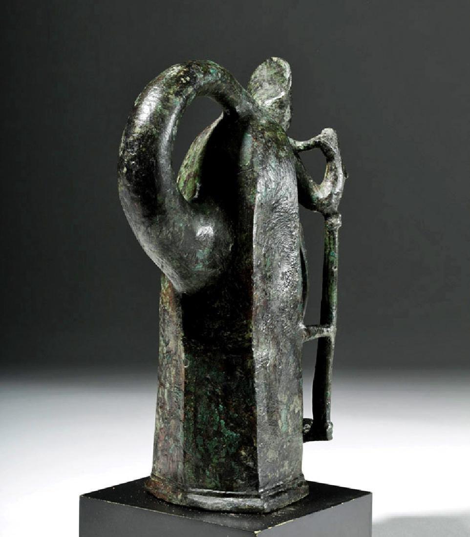 Important Large Roman Bronze Chariot Attachment -Venus - 3