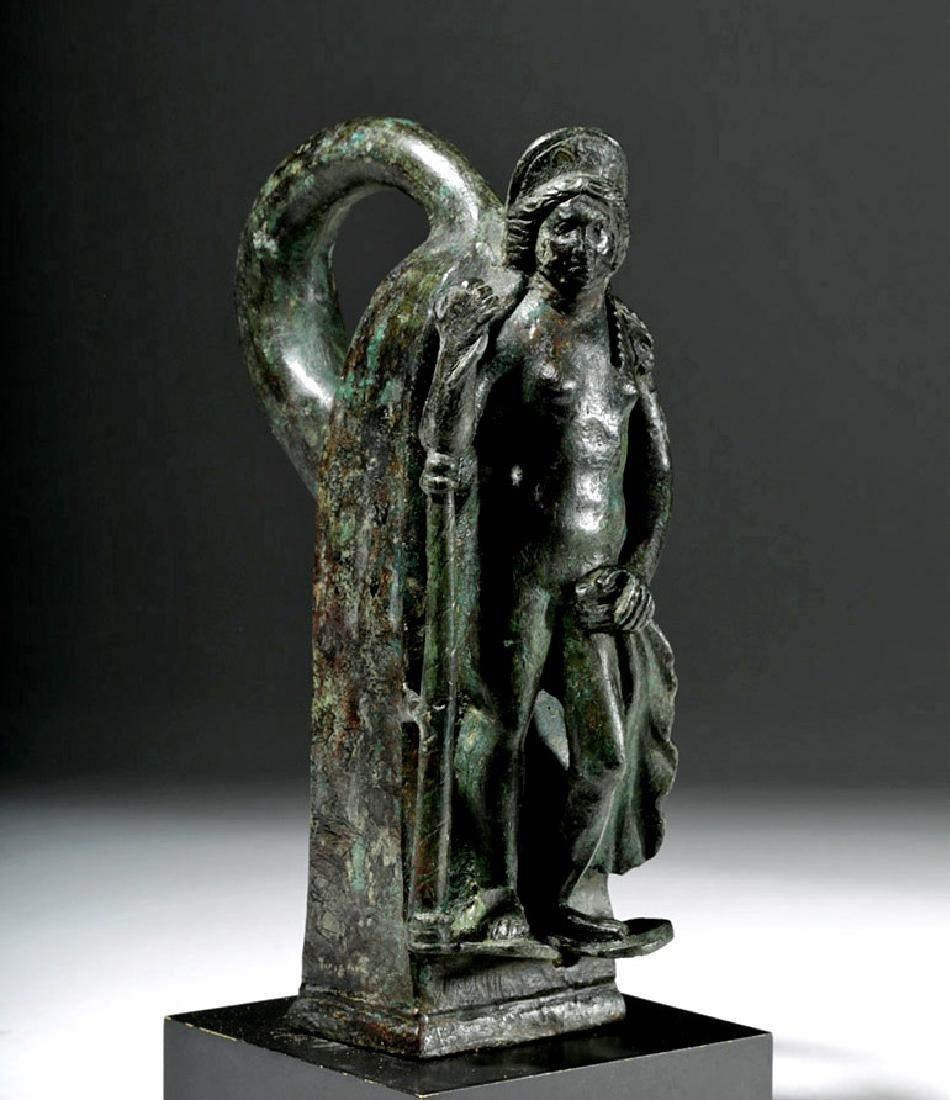 Important Large Roman Bronze Chariot Attachment -Venus - 4