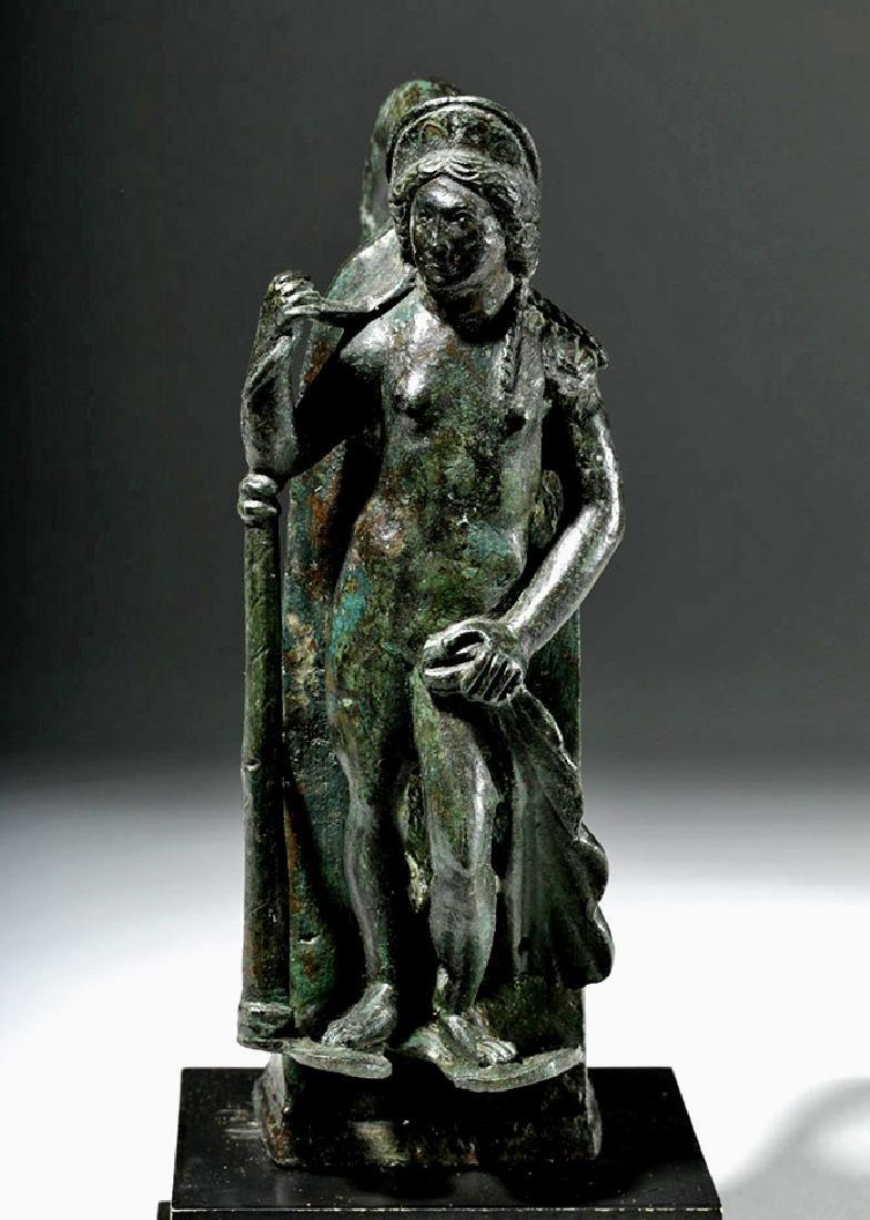 Important Large Roman Bronze Chariot Attachment -Venus - 5