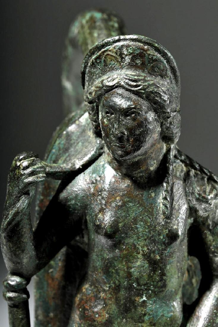 Important Large Roman Bronze Chariot Attachment -Venus - 6