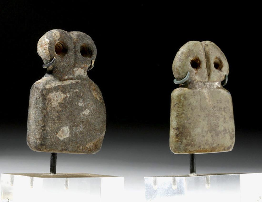 Two Tell Brak Stone Eye Idols - Rare Size - 2