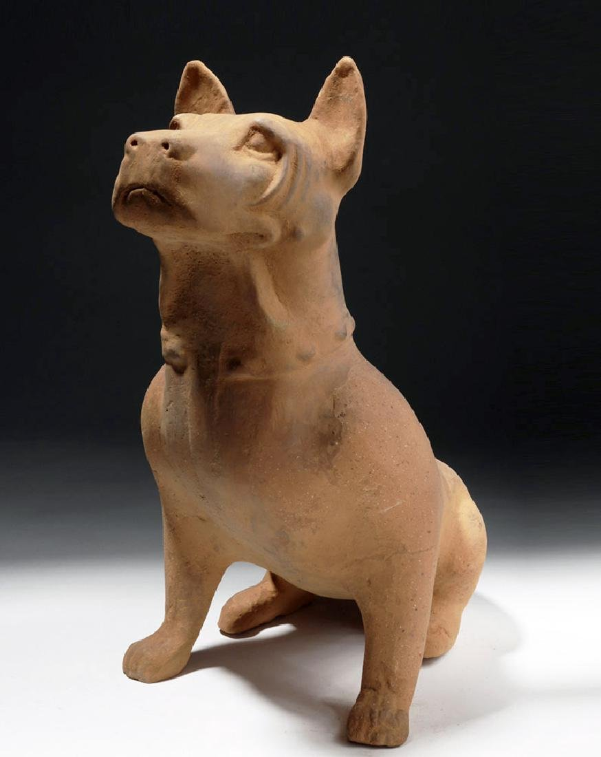 Large Chinese Han Dynasty Pottery Dog