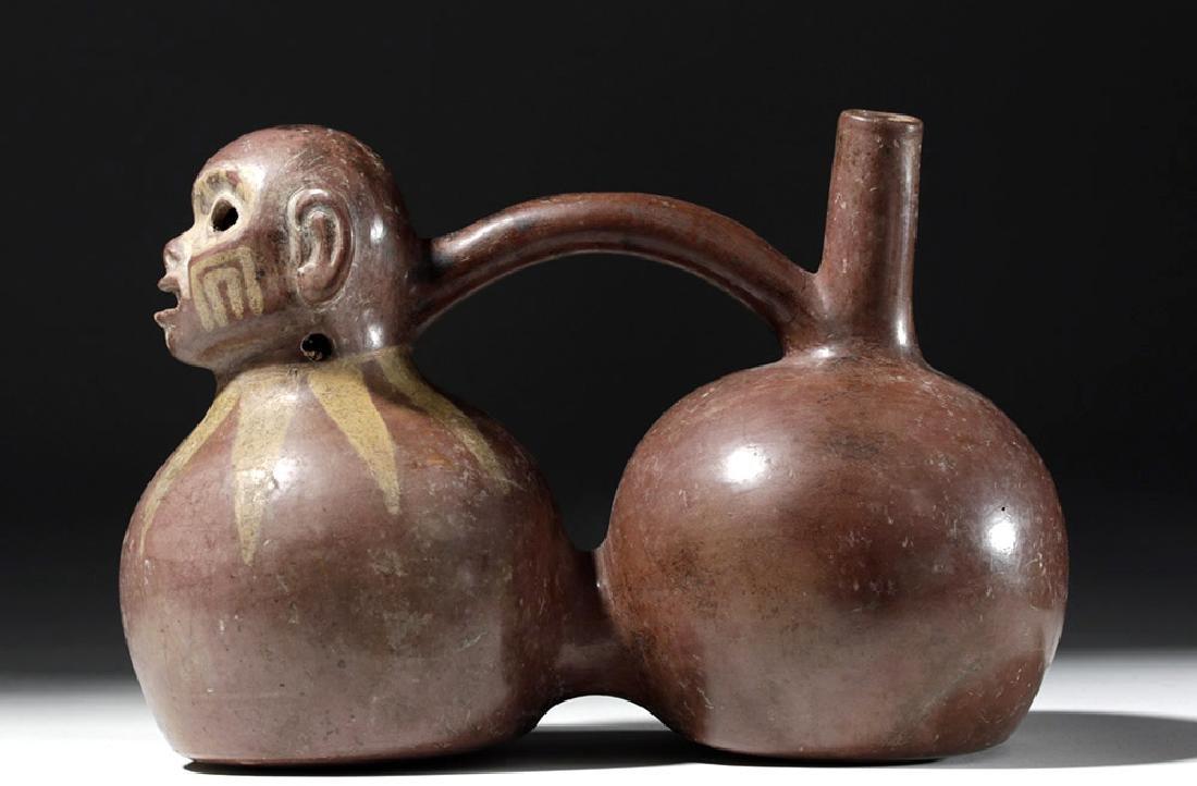 Fine Viru Whistling Pottery Stirrup Jar, Dwarf / Monkey - 6