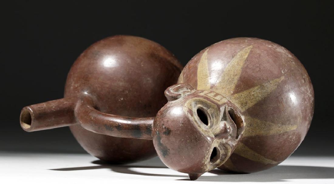 Fine Viru Whistling Pottery Stirrup Jar, Dwarf / Monkey - 8