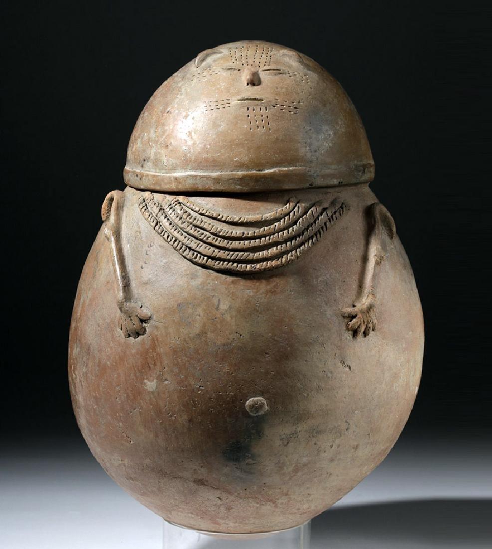 Chimila Pottery Anthropomorphic Burial Urn Egg-Shaped
