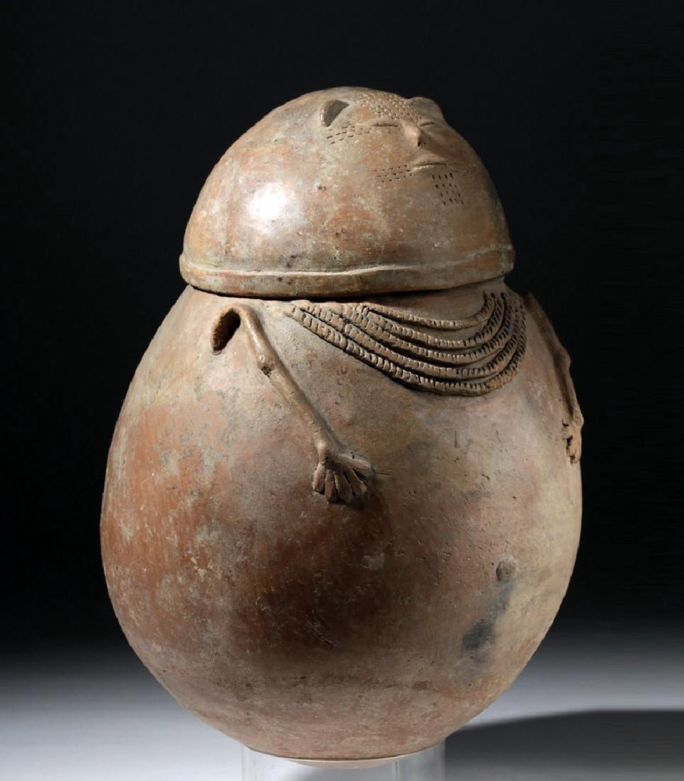 Chimila Pottery Anthropomorphic Burial Urn Egg-Shaped - 4