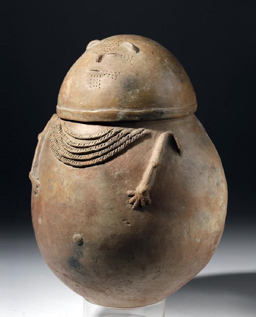 Chimila Pottery Anthropomorphic Burial Urn Egg-Shaped - 5