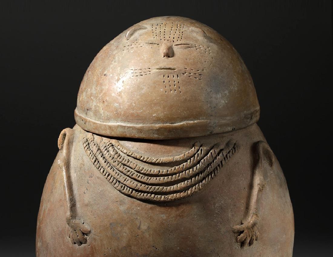 Chimila Pottery Anthropomorphic Burial Urn Egg-Shaped - 6