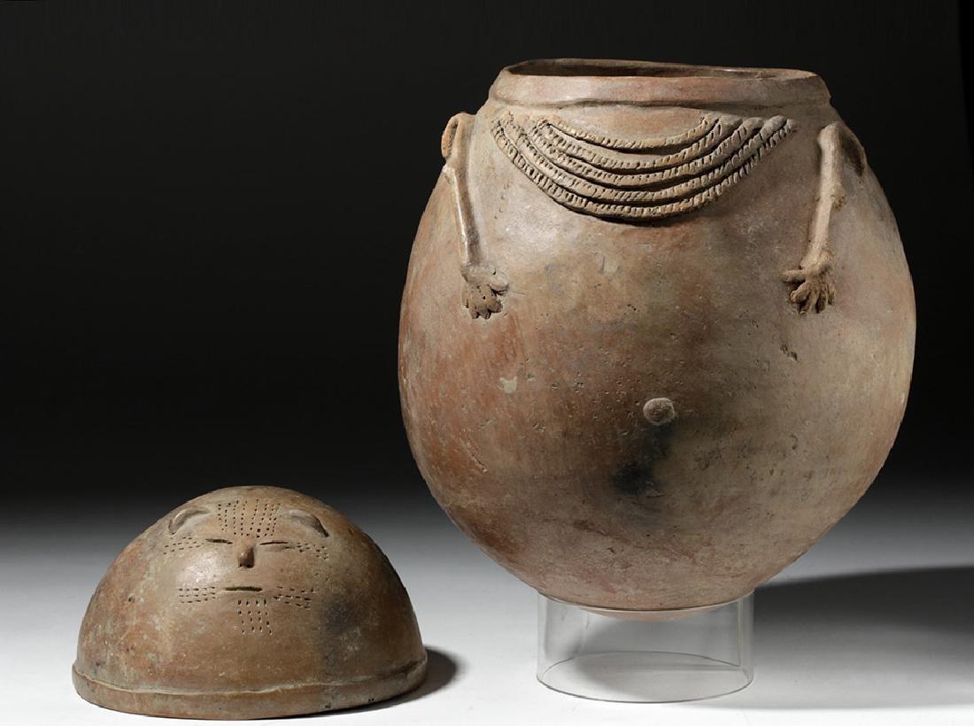 Chimila Pottery Anthropomorphic Burial Urn Egg-Shaped - 7