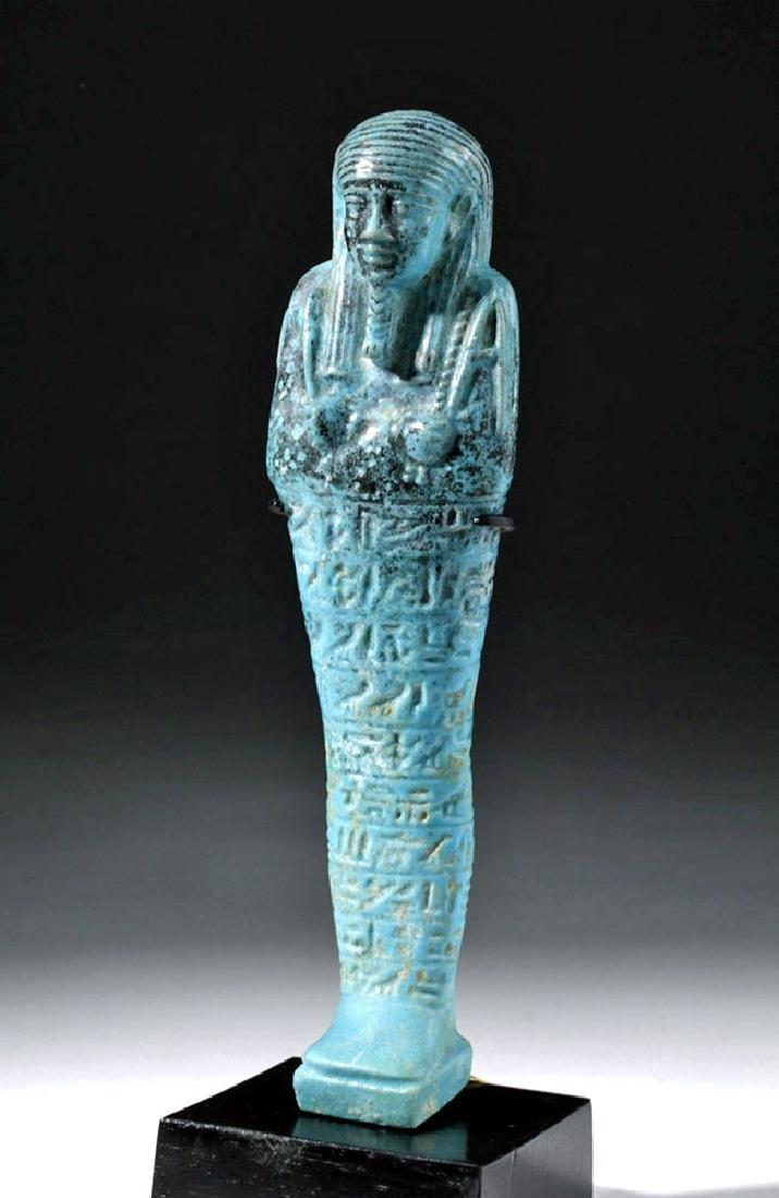 Fine Egyptian Faience Ushabti - Ex Sotheby's