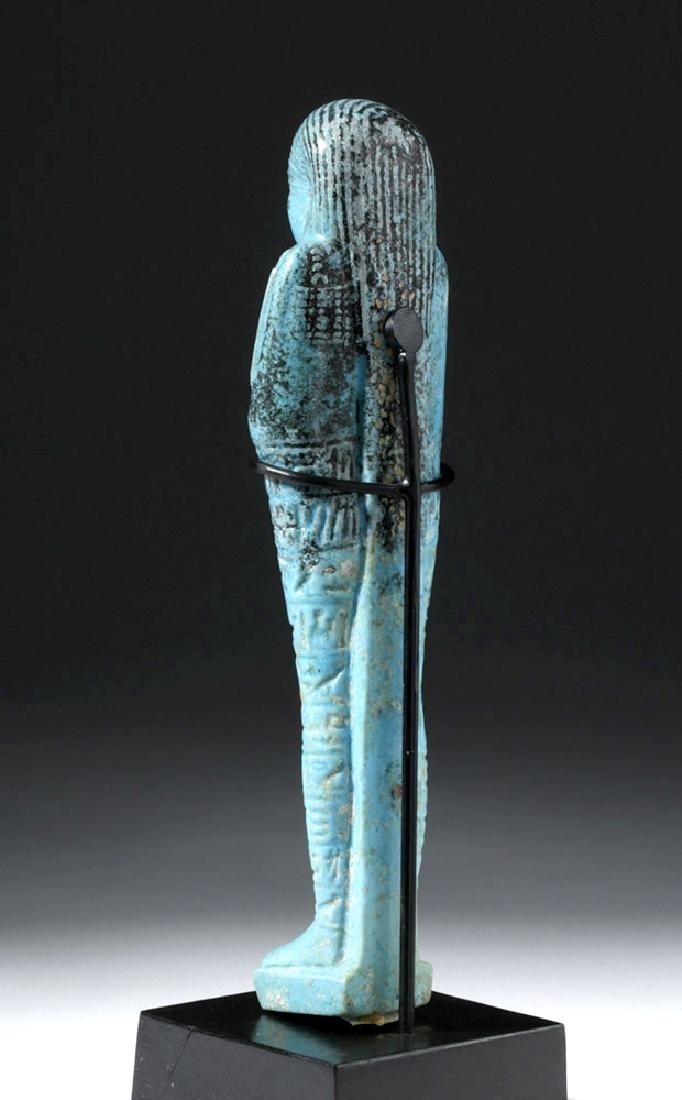 Fine Egyptian Faience Ushabti - Ex Sotheby's - 2