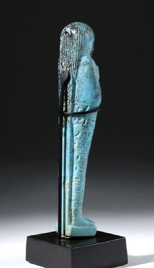 Fine Egyptian Faience Ushabti - Ex Sotheby's - 3
