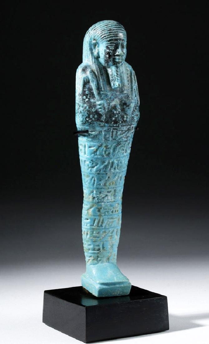 Fine Egyptian Faience Ushabti - Ex Sotheby's - 4