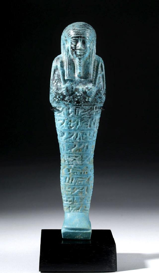 Fine Egyptian Faience Ushabti - Ex Sotheby's - 5