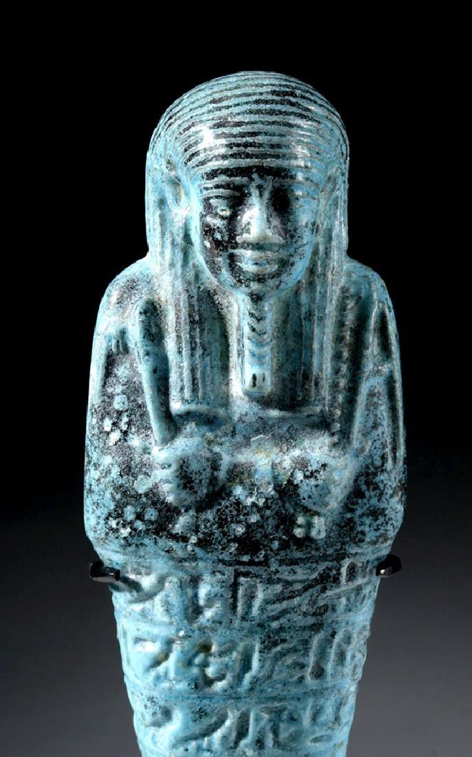 Fine Egyptian Faience Ushabti - Ex Sotheby's - 6