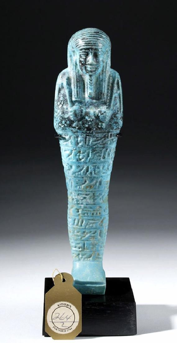 Fine Egyptian Faience Ushabti - Ex Sotheby's - 8