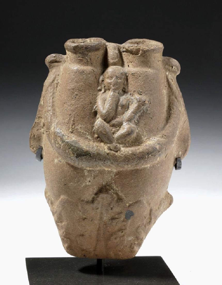 Egyptian Alexandrian Pottery Double Kohl Container