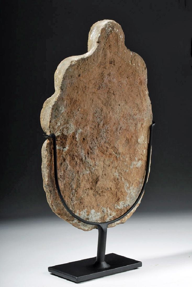 Greek Terracotta Antefix - Female Face & Acanthus Leaf - 2