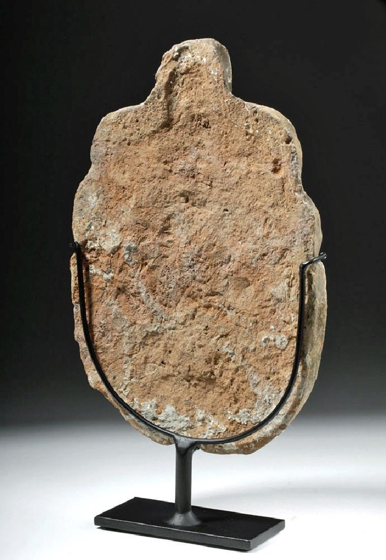 Greek Terracotta Antefix - Female Face & Acanthus Leaf - 3