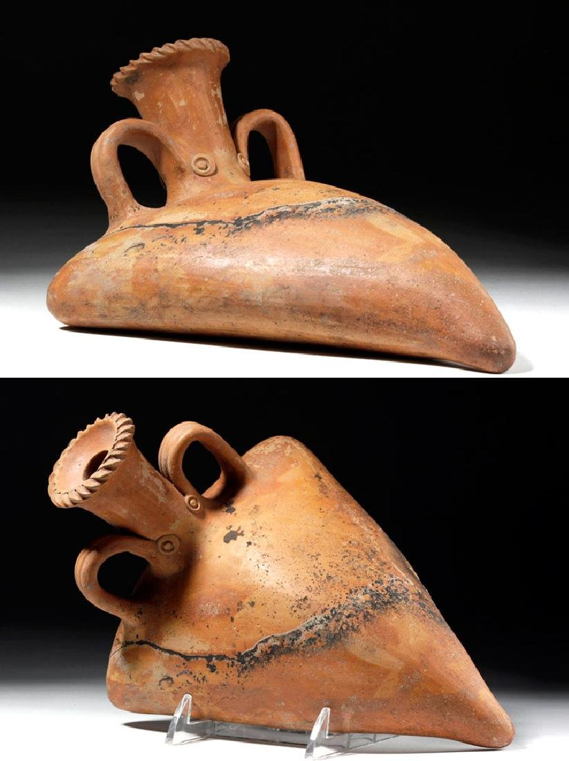 Hellenistic Greek Redware Pottery Askos