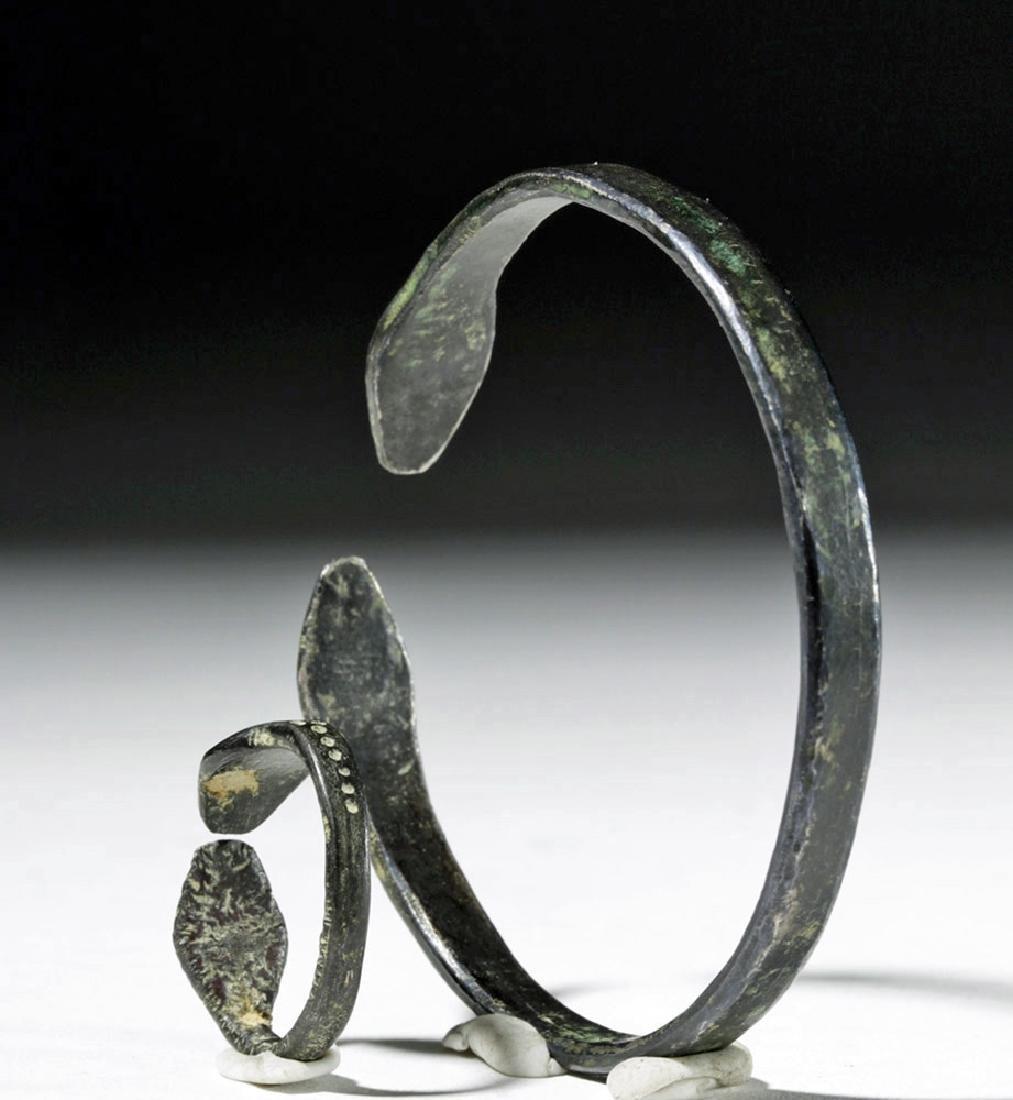 Matching Roman Silver Snake Bracelet + Ring - 2