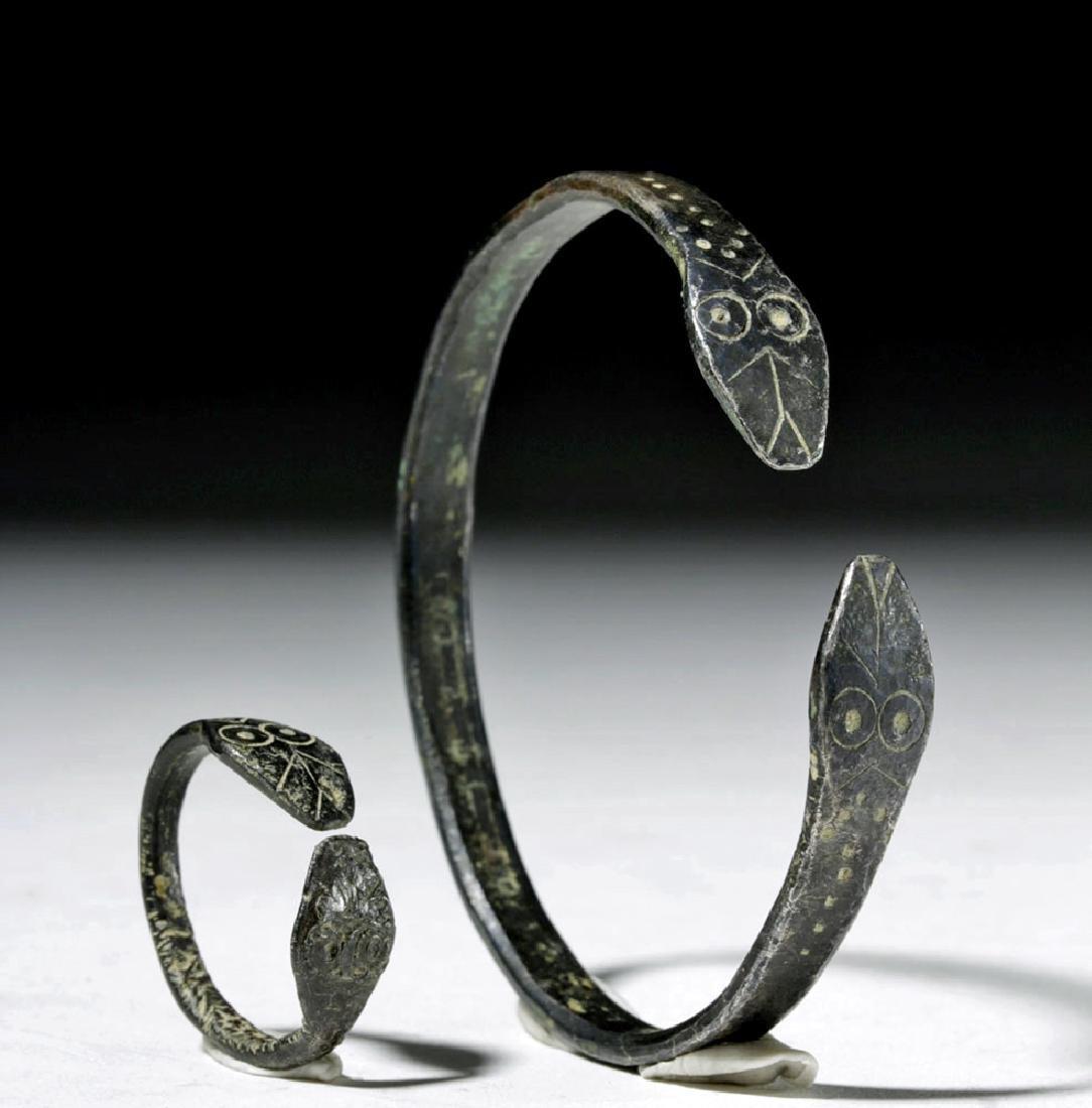 Matching Roman Silver Snake Bracelet + Ring - 4