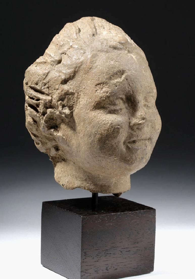 Roman Terracotta Head of a Young Boy - 4