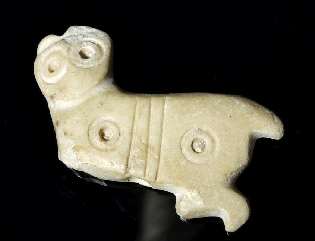 Large and Rare Sumerian Calcite Amulet of Feline