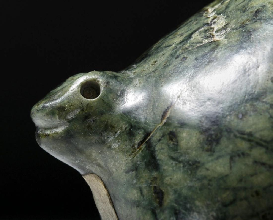 Colima Green Stone Ritual Bowl w/ Zoomorphic Feet - 5
