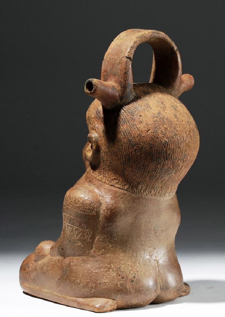 Colombian Alcarraza Pregnant Female Redware Figure - 2