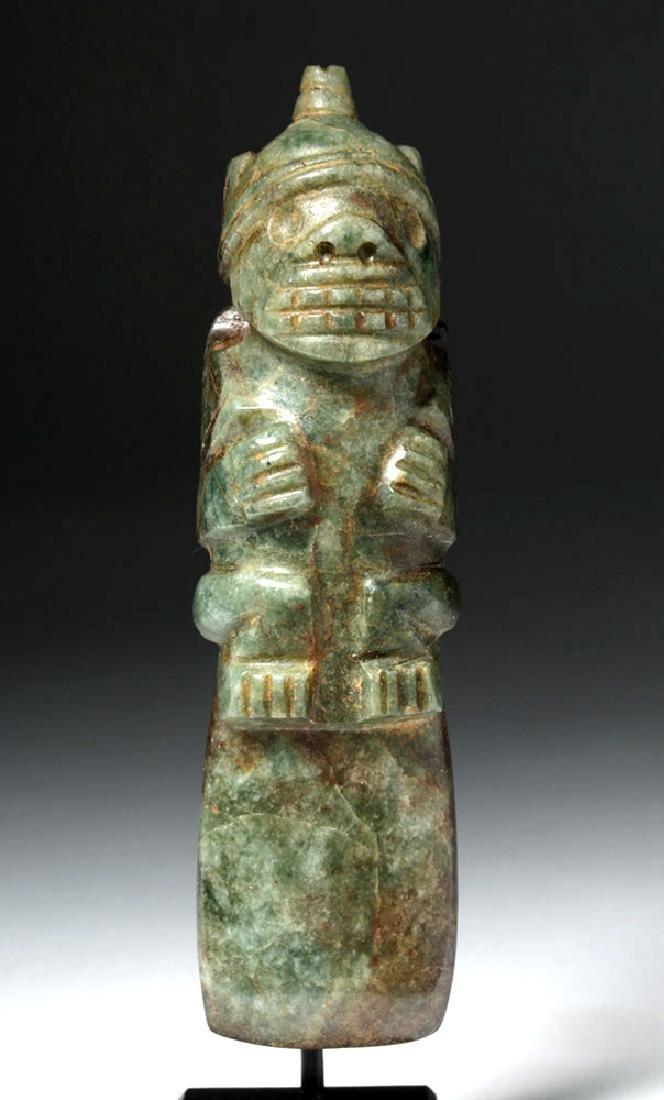 Costa Rican Jade Axe God - Shaman / Jaguar