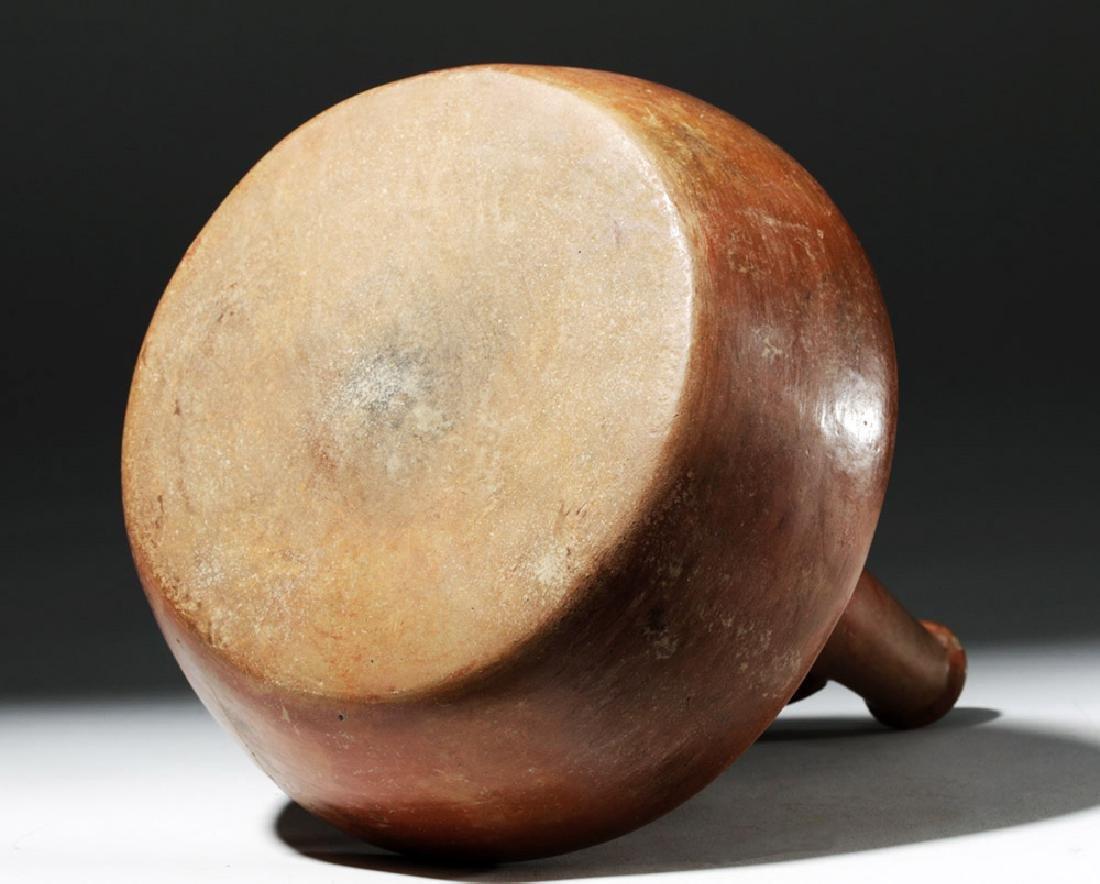 Chorrera Redware Whistling Stirrup Vessel - Coatimundi - 8
