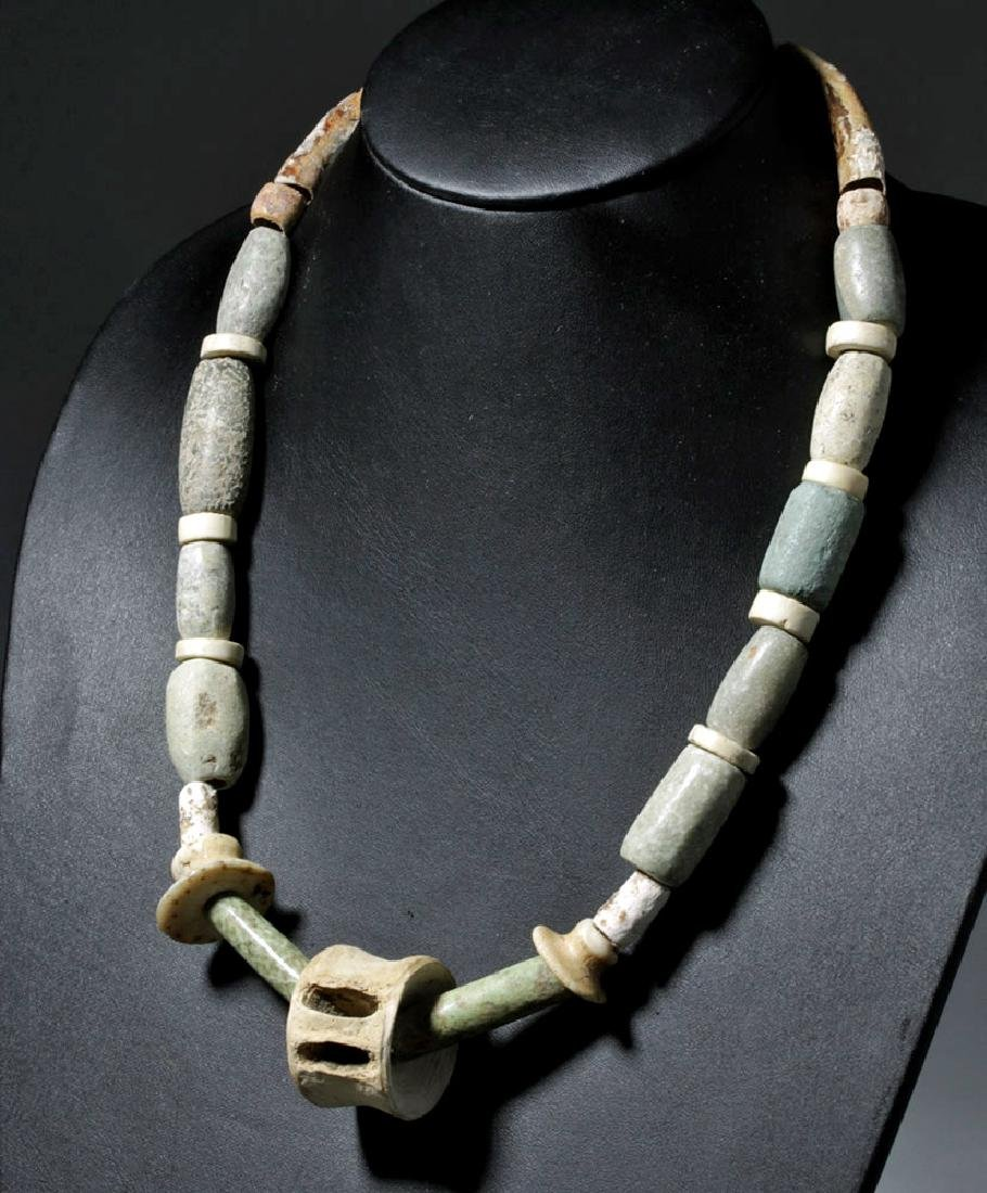 Ancient Zapotec Bone / Stone Bead Necklace