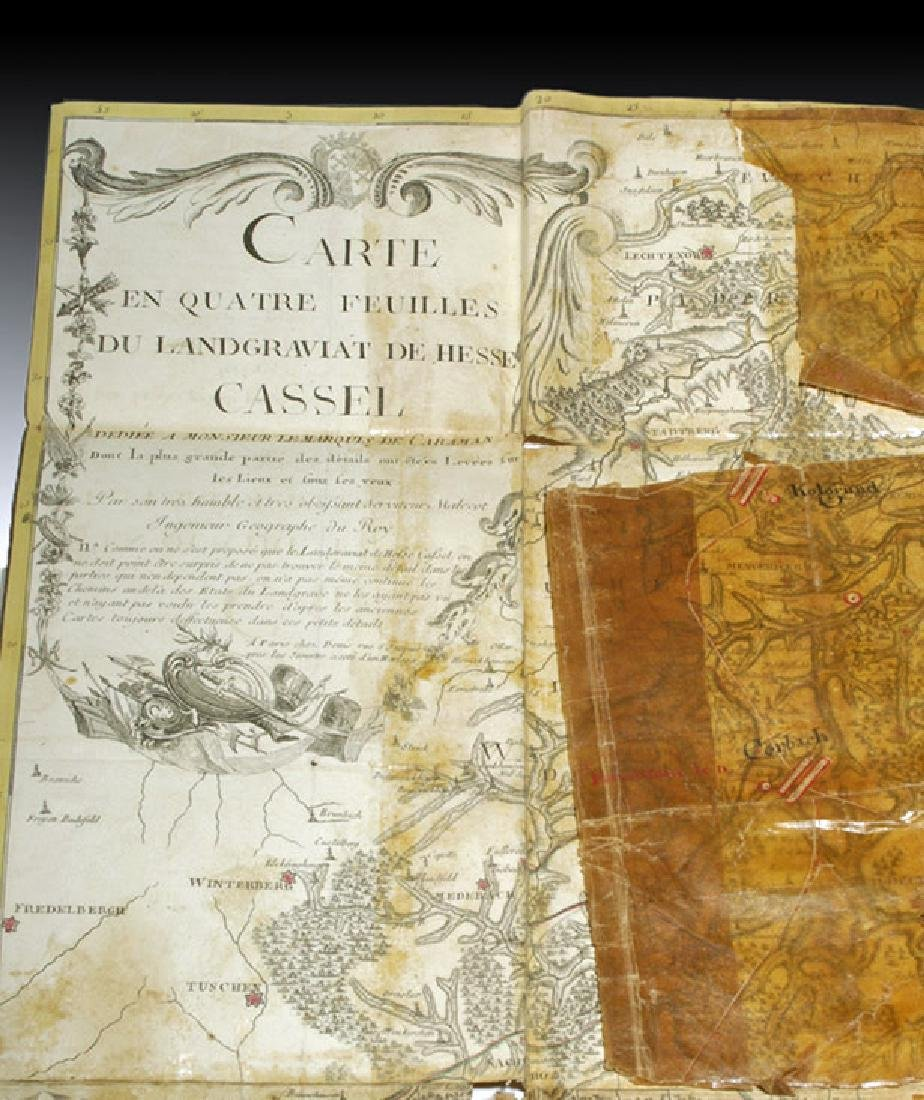 18th C. French Map w/ Oiled Paper, ex-Sotheby's - 2