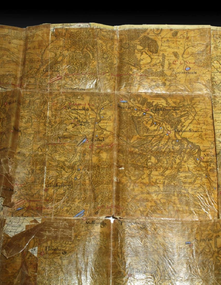 18th C. French Map w/ Oiled Paper, ex-Sotheby's - 3