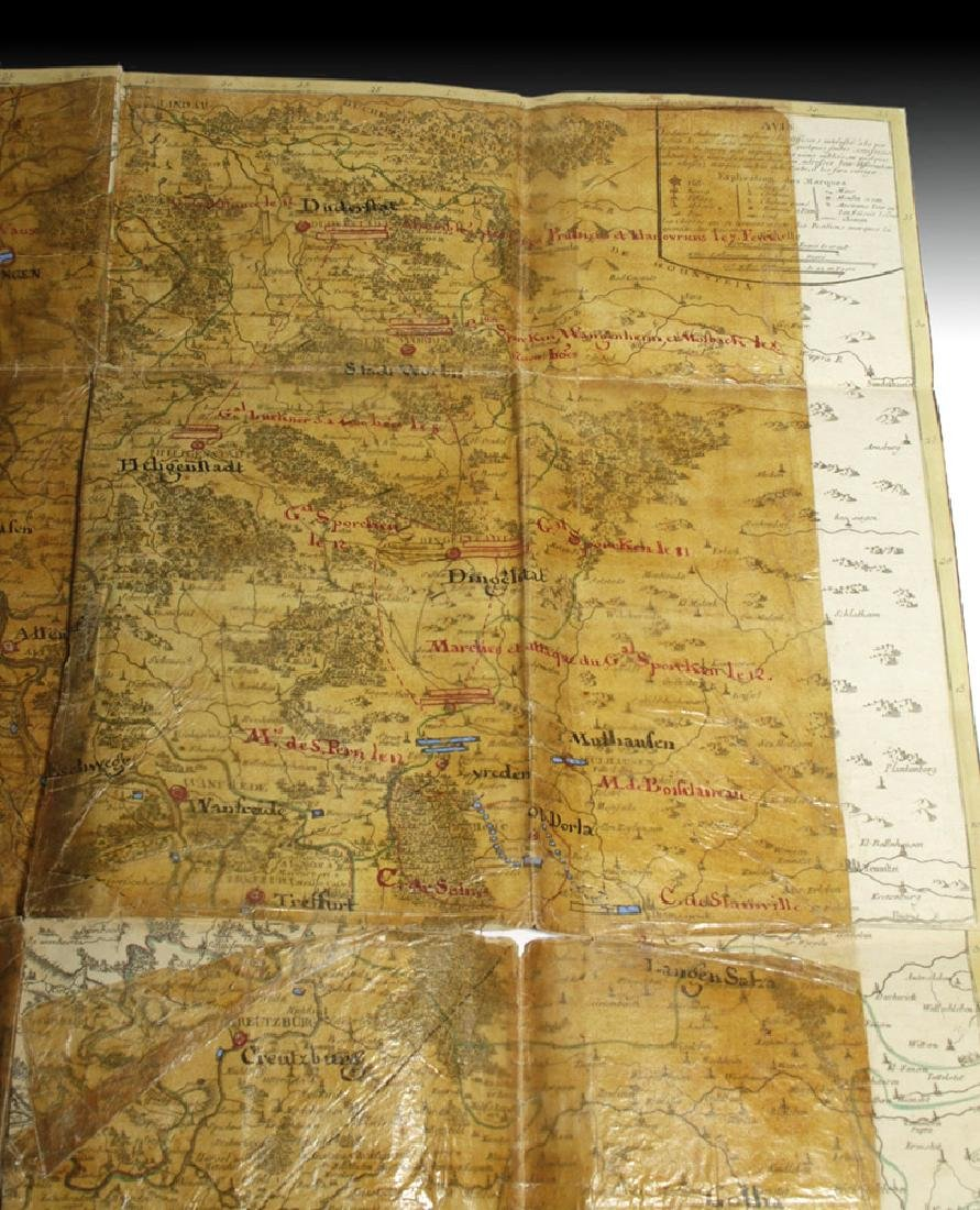 18th C. French Map w/ Oiled Paper, ex-Sotheby's - 4