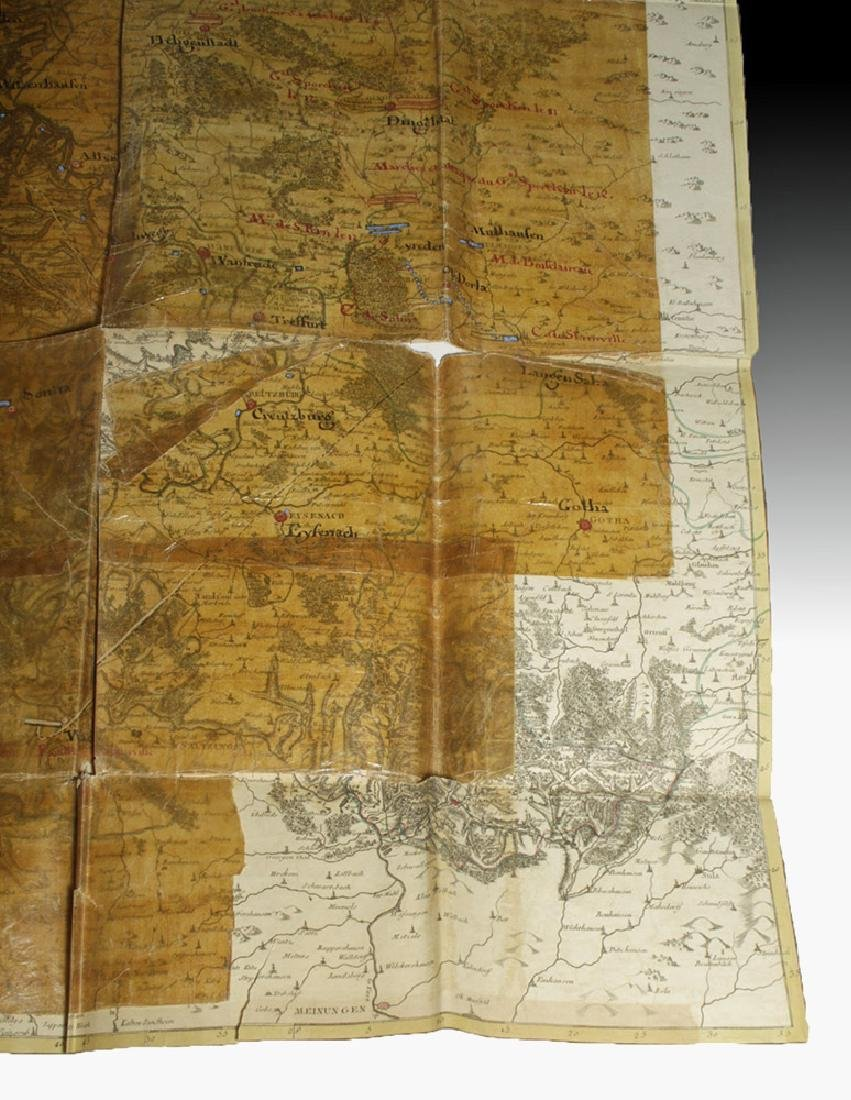 18th C. French Map w/ Oiled Paper, ex-Sotheby's - 5